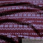 Stoff Wolle Polyester Strick Norweger dunkelrot angeraut Sweatshirt weich