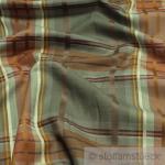 Stoff Polyester Baumwolle Wolle Karo braun farngrün weich Überkaro