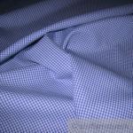 Stoff Baumwolle Vichy Karo klein mittelblau weiß weiss 1, 5 mm Vichykaro