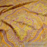Stoff Schurwolle Fischgrat Ornament gelb lila pink weich
