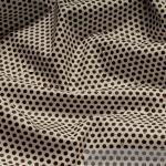 Stoff Baumwolle Acryl Punkte ganz klein weiß braun Tischdecke Wachstuch
