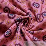 Stoff Kinderstoff Baumwolle Biber rosa Blümchen weich kuschelig angeraut