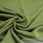 Stoff Polyester Single Jersey grün meliert angeraut Sweatshirt weich dehnbar