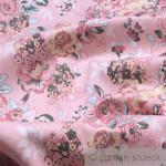 Stoff Baumwolle Lycra Köper rosa Rose elastisch Hose Rock