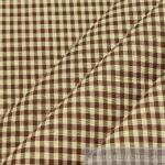 Stoff Baumwolle Vichy Karo ecru braun 2, 5 mm Vichykaro