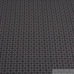 Stoff Baumwolle Lycra Single Jersey Geometrie Raute anthrazit grau Öko-Tex