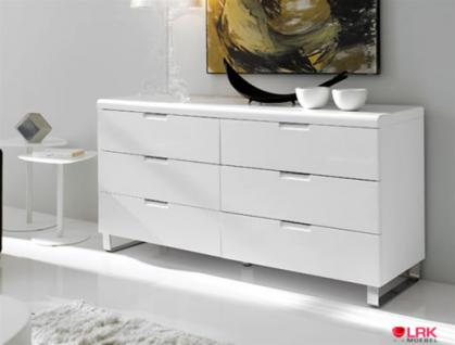 dupen kommode hochglanz chrom diele schlafzimmer m bel sideboard lowboard schrank kaufen bei. Black Bedroom Furniture Sets. Home Design Ideas