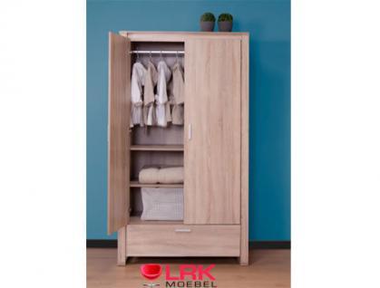 Childwood Kleiderschrank 2-türig Schrank Kinderkleiderschrank Neu Oracle OAK