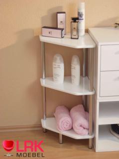 3712 Badezimmer Eckregal, Regal mit 3 MDF-Böden in Hochglanz überall Einsetzbar - Vorschau 2