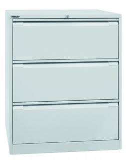 Bisley Doppelbahnig Hängeregistraturschrank Schrank Akten Büro Möbel in 5 Farben - Vorschau 5