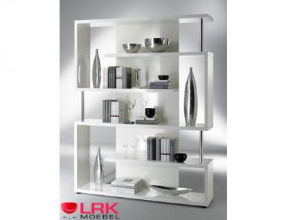 tt01 twist standregal regal b cherregal raumteiler in hochglanz und farbe eiche kaufen bei. Black Bedroom Furniture Sets. Home Design Ideas