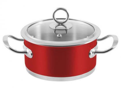 """6-tlg. Kochtopf-Set """"Rossa"""" Kochtöpfe Topf Essen Kochen Küche Set Neu Qualität - Vorschau 4"""