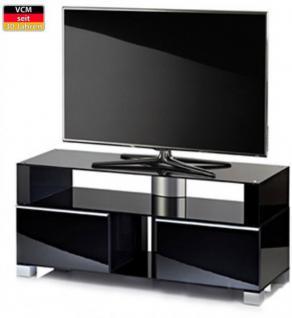 """VCM TV-Möbel """"Porano Schwarz"""" LCD TV Hifi Standkonsole Rack Tisch in 2 Größen - Vorschau 1"""