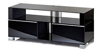 """VCM TV-Möbel """"Porano Schwarz"""" LCD TV Hifi Standkonsole Rack Tisch in 2 Größen - Vorschau 2"""