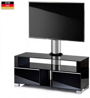 """VCM """"Ravenna"""" mit Halterung Möbel LCD TV Hifi Standkonsole Rack Tisch Schwarz - Vorschau 1"""