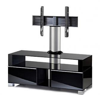"""VCM """"Ravenna"""" mit Halterung Möbel LCD TV Hifi Standkonsole Rack Tisch Schwarz - Vorschau 2"""