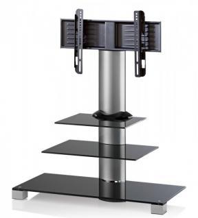 """VCM TV-Standfuß """"Amalo"""" Schwarzglas LCD LED Hifi Standkonsole Rack Tisch - Vorschau 2"""