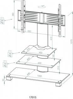 """VCM TV-Standfuß """"Amalo"""" Schwarzglas LCD LED Hifi Standkonsole Rack Tisch - Vorschau 3"""
