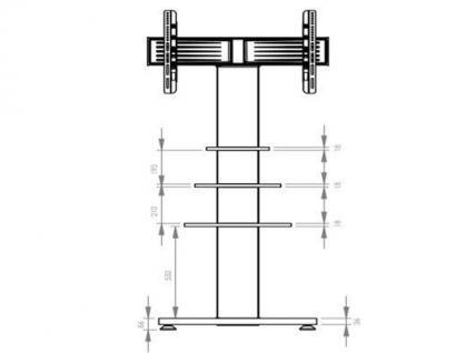 "VCM TV-Standfuß ""RAHU""LCD TV Hifi Standkonsole Möbel Rack Tisch Trägersystem - Vorschau 3"