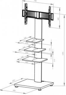 "VCM TV-Standfuß ""RAHU""LCD TV Hifi Standkonsole Möbel Rack Tisch Trägersystem - Vorschau 4"