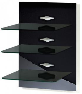 VCM Schwarzglas Xeno-3 TV Hifi Wandkonsole Wandpaneel Wandhalterung in 6 Farben - Vorschau 1