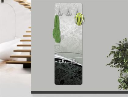 "Design Wandgarderobe ""Baroque"" Print Garderobe Möbel Diele Flur Haken Neu"
