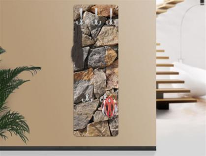 "Design Wandgarderobe ""Granitic"" Print Garderobe Möbel Diele Flur Haken Neu"