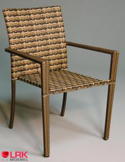 Armlehnstuhl Stapelbar Möbel Stuhl Gartenmöbel Gartenstuhl in 3 Farben - Vorschau 1
