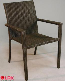 Armlehnstuhl Stapelbar Möbel Stuhl Gartenmöbel Gartenstuhl in 3 Farben - Vorschau 3