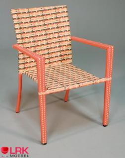 Armlehnstuhl Stapelbar Möbel Stuhl Gartenmöbel Gartenstuhl in 3 Farben - Vorschau 5