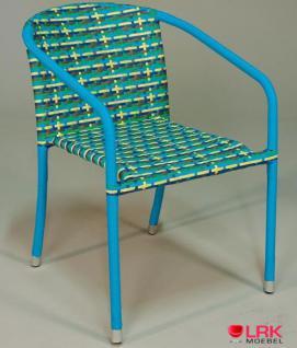 Armlehnstuhl Stapelbar Garten Möbel Stuhl Gartenmöbel Gartenstuhl in 4 Farben
