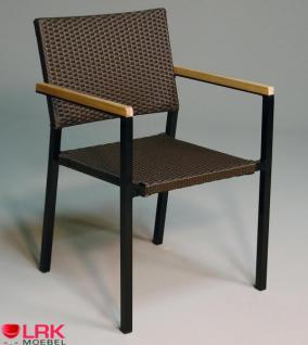 Armlehnstuhl Stapelbar Garten Möbel Stuhl Gartenmöbel Gartenstuhl in 4 Farben - Vorschau 1