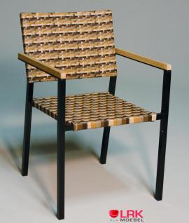 Armlehnstuhl Stapelbar Garten Möbel Stuhl Gartenmöbel Gartenstuhl in 4 Farben - Vorschau 3