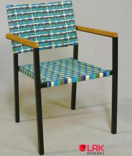 Armlehnstuhl Stapelbar Garten Möbel Stuhl Gartenmöbel Gartenstuhl in 4 Farben - Vorschau 5