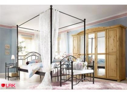 metallbett mit betthimmel himmelbett bett schlafsofa metall in 3 gr en 2 farben kaufen bei. Black Bedroom Furniture Sets. Home Design Ideas