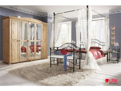 metallbett mit betthimmel himmelbett bett schlafsofa. Black Bedroom Furniture Sets. Home Design Ideas