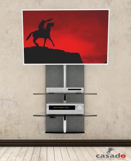 """""""Premium Stone"""" TV Hifi Wandkonsole Wandpaneel Wandhalterung Trägersystem LCD - Vorschau 1"""