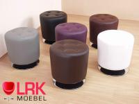 4442 Sitzhocker, Lounge-Sitzhocker, Polsterhocker, Hocker Drehbar in 6 Farben