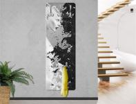 "Design Wandgarderobe ""Milk & Coffee"" Print Garderobe Möbel Diele Flur Haken"