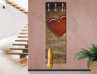 "Design Wandgarderobe ""Natural Love"" Print Garderobe Möbel Diele Flur Haken"