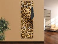 Design Wandgarderobe Jaguar Druck Print Garderobe Möbel Diele Flur Haken Neu