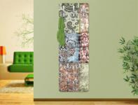 Design Wandgarderobe Druck Print Garderobe Möbel Diele Flur Haken Neu