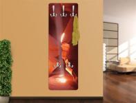Design Wandgarderobe Kleiderhaken Druck Print Garderobe Möbel Diele Flur Haken