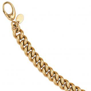 Armband Tombak gold farben beschichtet 21 cm Karabiner