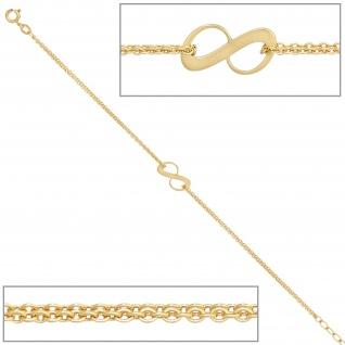 Armband 375 Gold Gelbgold 19 cm Goldarmband Federring