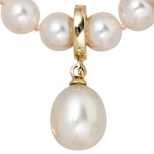 Einhänger Anhänger 585 Gold Gelbgold 1 Süßwasser Perle Perlenanhänger