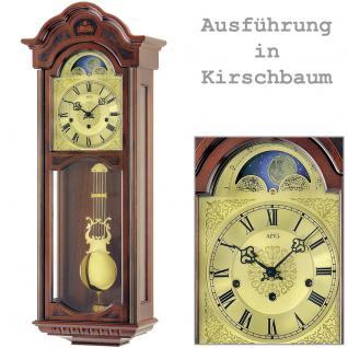 AMS 2649/9 Wanduhr mit Pendel mechanisch Holz kirschbaum farben Pendeluhr