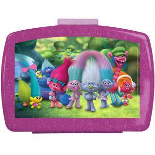 TROLLS Kinder Brotdose aus Kunststoff mit Einsatz lila violett