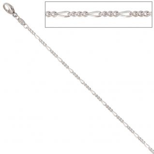 Figarokette 585 Weißgold 1, 7 mm 45 cm Gold Kette Halskette Weißgoldkette
