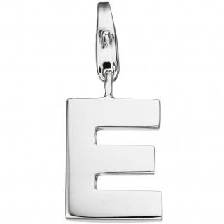 Einhänger Charm Buchstabe E 925 Sterling Silber Anhänger für Bettelarmband